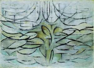 Piet Modriaan, Bloeiende appelboom, 1911, Olieverf op doek, 78 x 106 cm